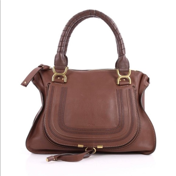 b2e9ca46a2f Chloe Bags   Large Marcie Double Carry Bag In Brown   Poshmark
